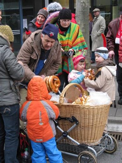Mainz Carnival Children's Parade pretzel man