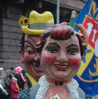 Mainz Germany Carnival politicians on parde