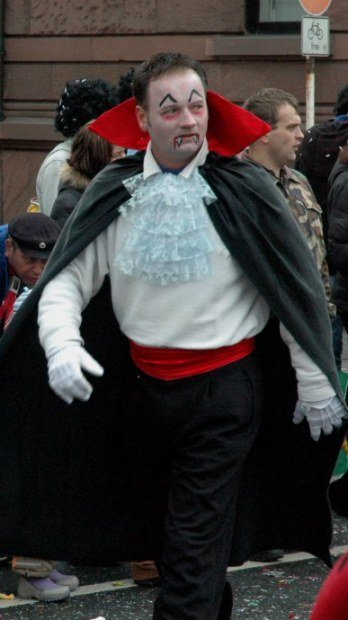 Mainz Germany Carnival and Count Dracula
