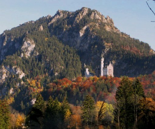 Neuschwanstein Castle in Autumn