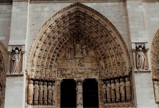 Entrance Notre Dame Cathedral Paris