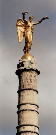 Angel protecting memories of fallen soldiers Paris Palmier Fountain