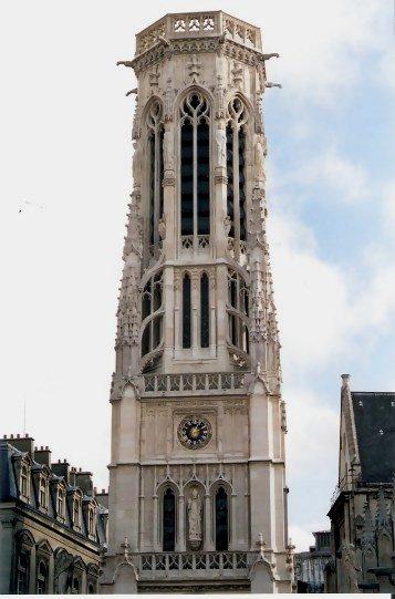 Paris Church of Saint-Germain-l'Auxerrois Clock Tower