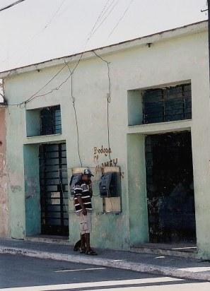 Public phone in Havana barrio
