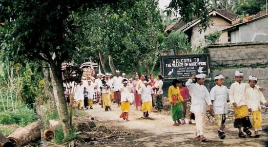 Ritual at Village of White Herons in Bali