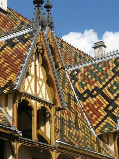 Roof tile patterns Hospices de Beaune