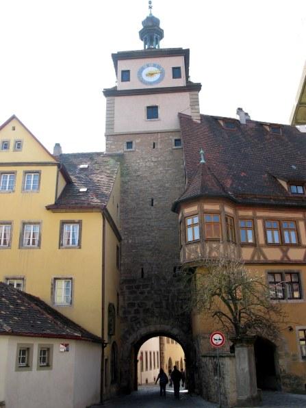 Rothenburg ob der Tauber city gateway