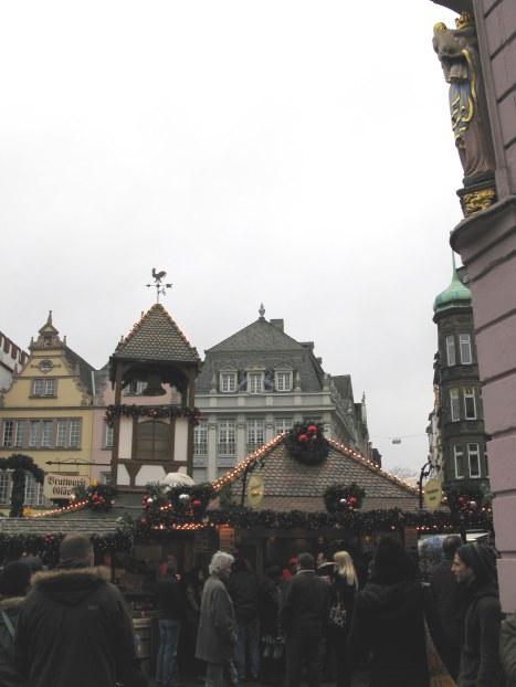 Saint overlooking Trier Christmas Market
