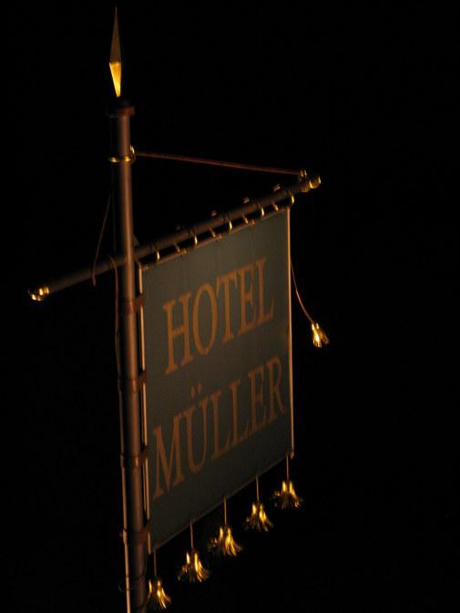 Sign of Hotel Müller Hohenschwangau