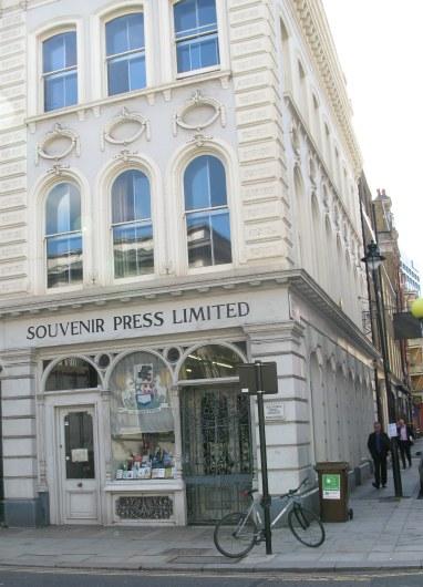 Souvenir Press in Bloomsbury London