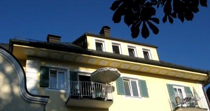 Terrace bedrooms of Hotel Müller overlooking Hohenschwangau Castle