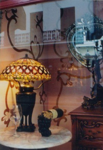 Tiffany lamp in the French Quarter New Orleans