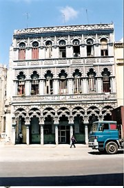 Unrestored grandeur of building in Havana