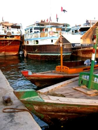 Water Taxis and trading dhows Dubai Creek
