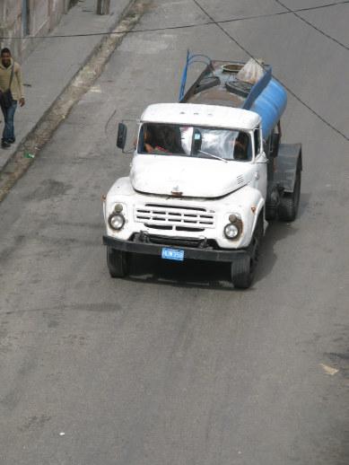 Water truck in Havana Cuba