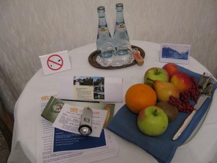 Welcome fruit platter in Hotel Müller Hohenshwangau