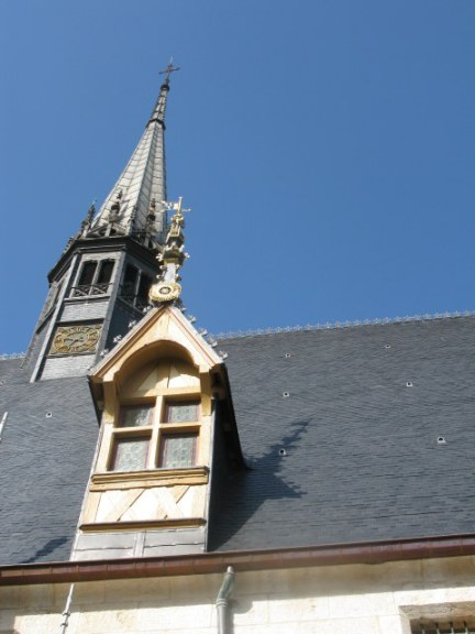 Window and main spire of the Hospices de Beaune