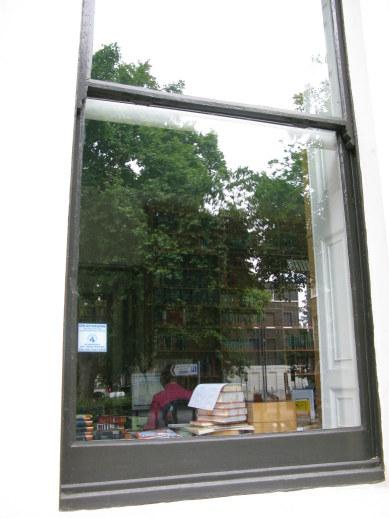 Window of publishing house in Bloomsbury London