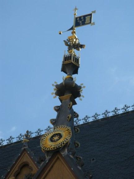 Window spire details of Hospices de Beaune