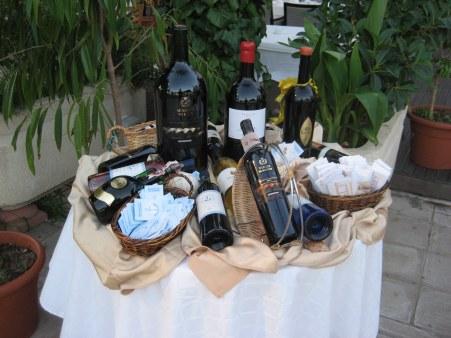 Wine display in restaurants Yasmine Marina Hammamet, Tunisia