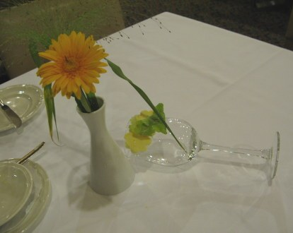 Wine glass and butter artwork