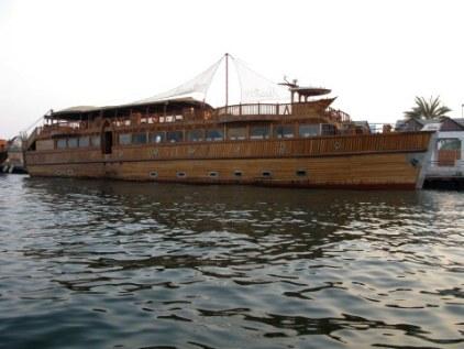 Wooden boat on Dubai Creek