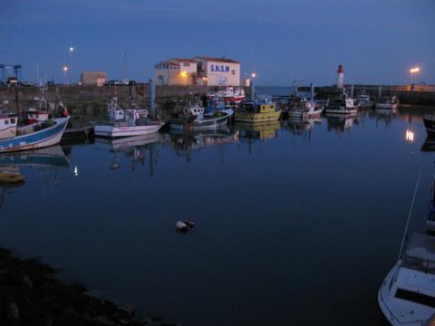 Île d'Oléron La Cotinière port at night